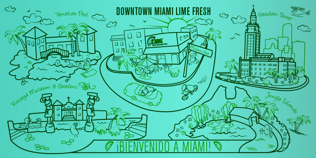 Lime Fresh Mexican Grill Illustration