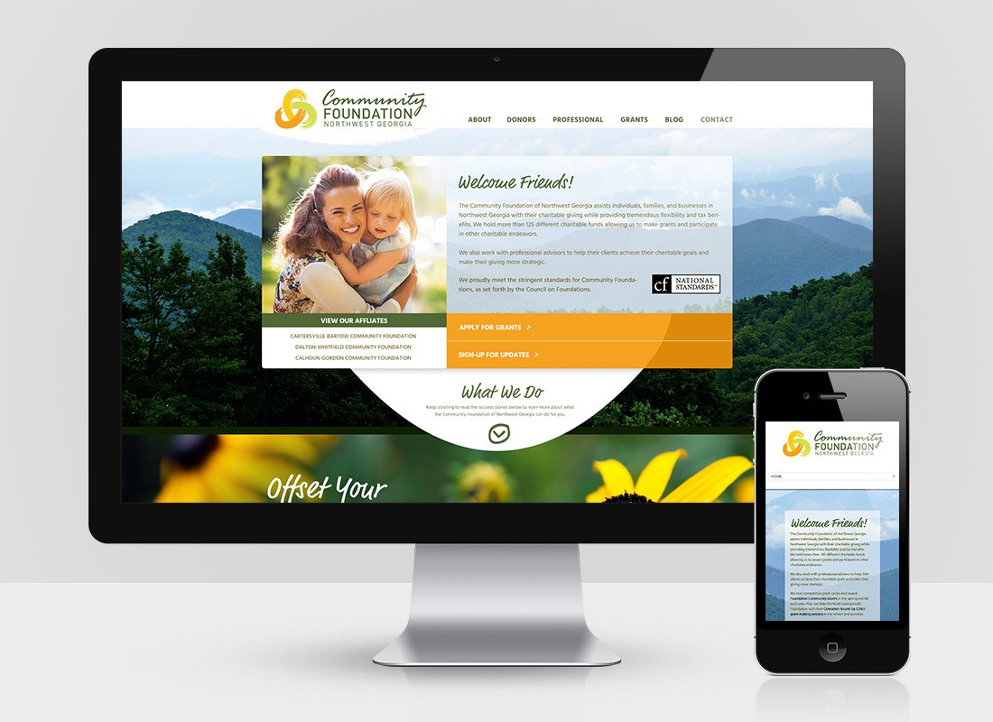 Community Foundation Web Design Homepage